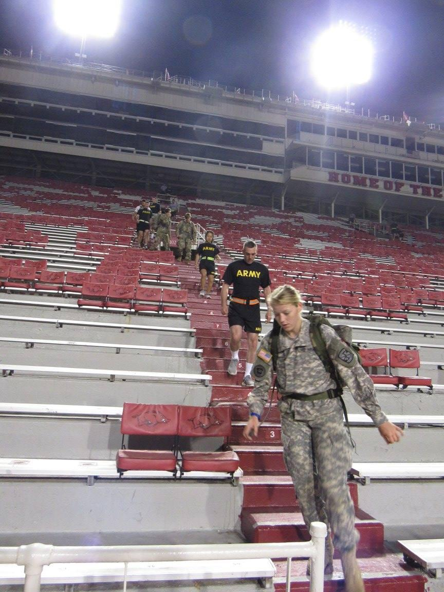 9/11 Memorial Stairclimb at Razorback Stadium